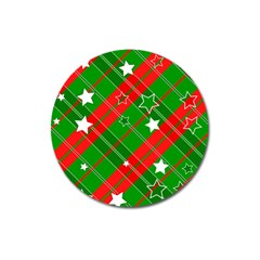 Background Abstract Christmas Magnet 3  (round)
