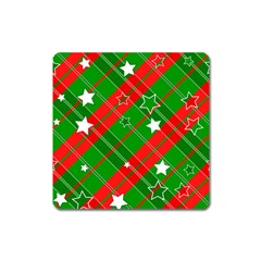 Background Abstract Christmas Square Magnet