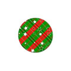Background Abstract Christmas Golf Ball Marker (10 pack)