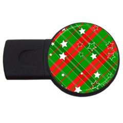 Background Abstract Christmas USB Flash Drive Round (1 GB)