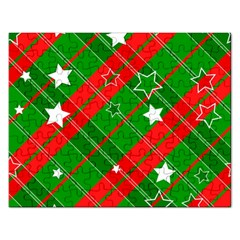 Background Abstract Christmas Rectangular Jigsaw Puzzl