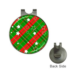 Background Abstract Christmas Hat Clips with Golf Markers