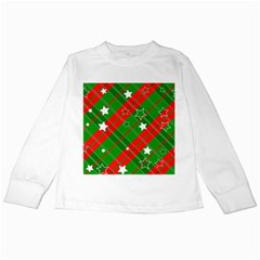 Background Abstract Christmas Kids Long Sleeve T-Shirts