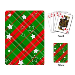 Background Abstract Christmas Playing Card