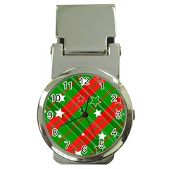 Background Abstract Christmas Money Clip Watches