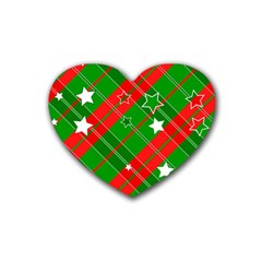 Background Abstract Christmas Heart Coaster (4 pack)