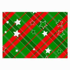 Background Abstract Christmas Large Glasses Cloth (2-Side)