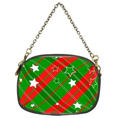 Background Abstract Christmas Chain Purses (Two Sides)