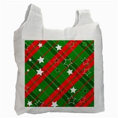 Background Abstract Christmas Recycle Bag (One Side)