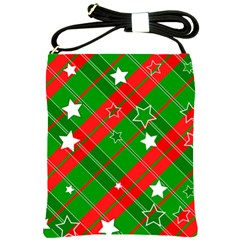 Background Abstract Christmas Shoulder Sling Bags