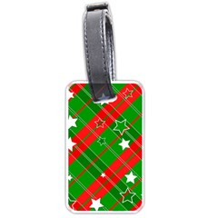 Background Abstract Christmas Luggage Tags (One Side)