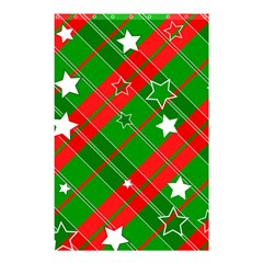 Background Abstract Christmas Shower Curtain 48  x 72  (Small)