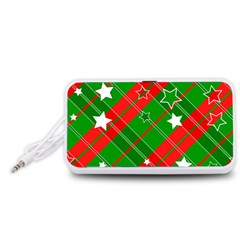Background Abstract Christmas Portable Speaker (white)