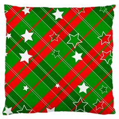 Background Abstract Christmas Large Cushion Case (one Side)