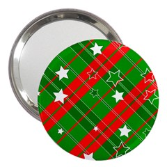 Background Abstract Christmas 3  Handbag Mirrors