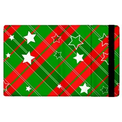Background Abstract Christmas Apple iPad 2 Flip Case