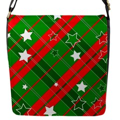 Background Abstract Christmas Flap Messenger Bag (S)
