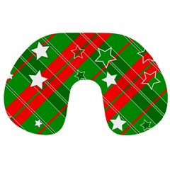 Background Abstract Christmas Travel Neck Pillows