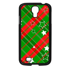 Background Abstract Christmas Samsung Galaxy S4 I9500/ I9505 Case (black)
