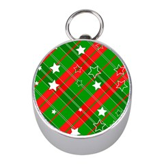 Background Abstract Christmas Mini Silver Compasses