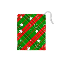 Background Abstract Christmas Drawstring Pouches (small)