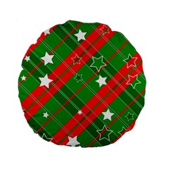 Background Abstract Christmas Standard 15  Premium Flano Round Cushions