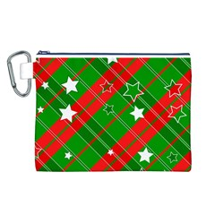 Background Abstract Christmas Canvas Cosmetic Bag (L)