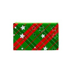 Background Abstract Christmas Cosmetic Bag (xs)