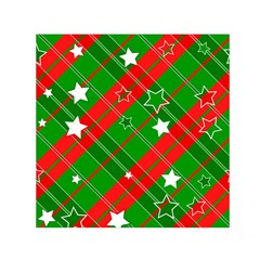 Background Abstract Christmas Small Satin Scarf (Square)