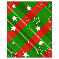 Background Abstract Christmas Drawstring Bag (small)