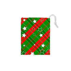 Background Abstract Christmas Drawstring Pouches (XS)