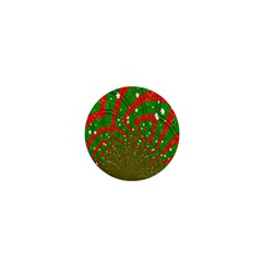 Background Abstract Christmas Pattern 1  Mini Magnets