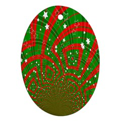 Background Abstract Christmas Pattern Ornament (oval)