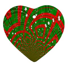 Background Abstract Christmas Pattern Ornament (heart)