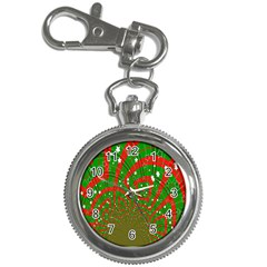 Background Abstract Christmas Pattern Key Chain Watches