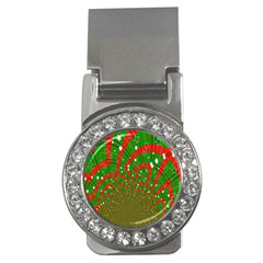Background Abstract Christmas Pattern Money Clips (cz)
