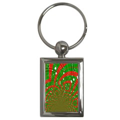 Background Abstract Christmas Pattern Key Chains (Rectangle)