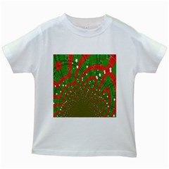 Background Abstract Christmas Pattern Kids White T Shirts