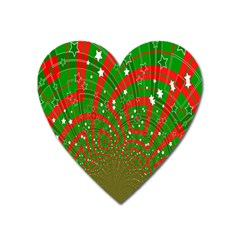 Background Abstract Christmas Pattern Heart Magnet