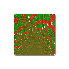 Background Abstract Christmas Pattern Square Magnet