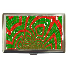 Background Abstract Christmas Pattern Cigarette Money Cases