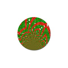 Background Abstract Christmas Pattern Golf Ball Marker (10 Pack)