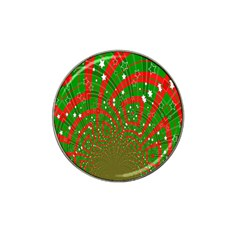 Background Abstract Christmas Pattern Hat Clip Ball Marker (10 Pack)