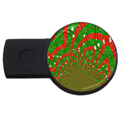 Background Abstract Christmas Pattern USB Flash Drive Round (4 GB)