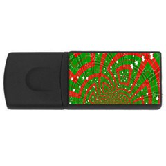 Background Abstract Christmas Pattern USB Flash Drive Rectangular (4 GB)