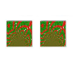 Background Abstract Christmas Pattern Cufflinks (Square)