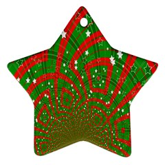 Background Abstract Christmas Pattern Star Ornament (Two Sides)