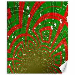Background Abstract Christmas Pattern Canvas 8  x 10