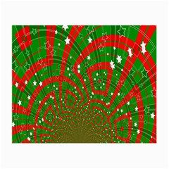 Background Abstract Christmas Pattern Small Glasses Cloth (2 Side)