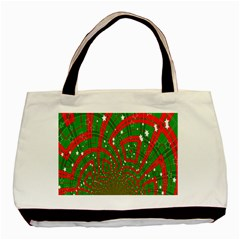 Background Abstract Christmas Pattern Basic Tote Bag (Two Sides)